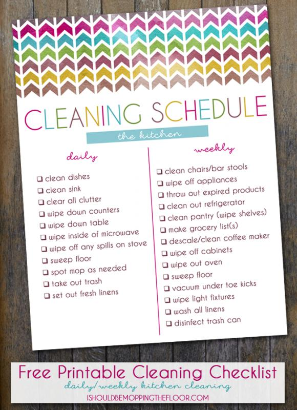 restaurant cleaning checklist