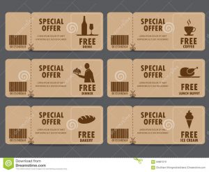 restaurant gift certificate template cafe banner gift voucher certificate coupon food menu business card tags element template can be use business shopping