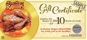 restaurant gift certificate template kenny rogers gift certificate sample
