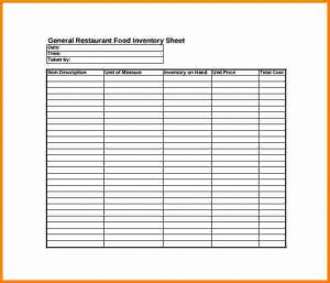 restaurant inventory sheet inventory sheet pdf general restaurant food inventory sheet pdf free download