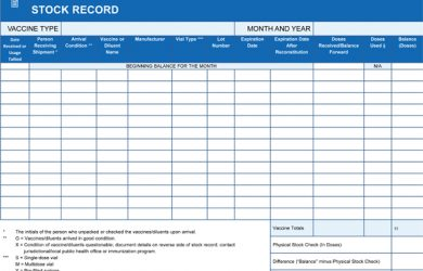 restaurant inventory sheets vaccine storage entreposage vaccins eng