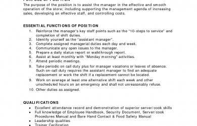 restaurant manager job description assistant restaurant manager job description