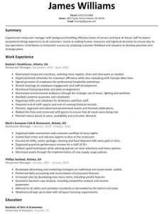 restaurant manager resume best restaurant manager resume sample 601x779