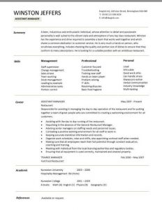 restaurant manager resume pic assistant manager resume 4 1