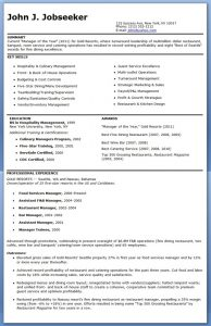 restaurant manager resume restaurant manager resume sample free