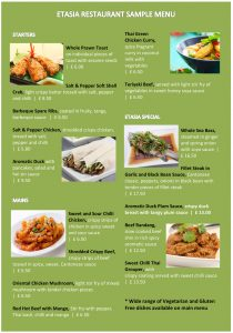 restaurant menu sample restaurant menu sample