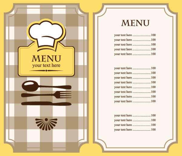 Restaurant Menu Template Free Nice Look  Free Food Menu Template