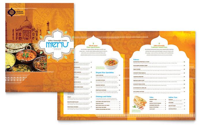 restaurant menu template free