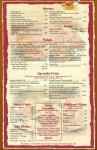 restaurant menu templates diner menu template page