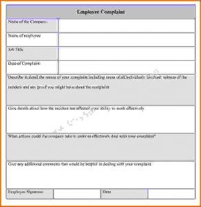 restaurant receipt template complaint form template employee complaint form