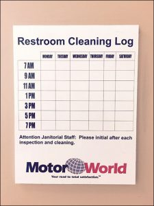 restroom cleaning log mercedes benz restroom cleaning log aux
