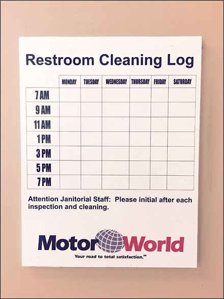 Restroom Cleaning Log | Template Business