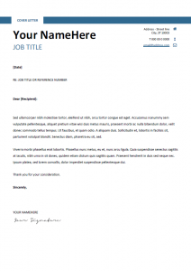 resume cover letter template free free clean simple cover letter template blue