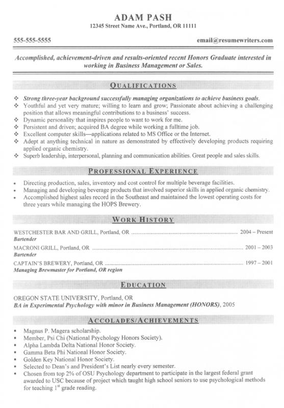 Resume Examples For College Students  Resume Examples College Students
