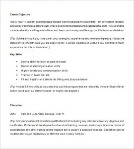 resume examples for highschool students example of high school student resume
