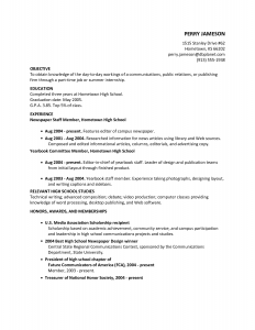 resume examples for highschool students high school resume objective