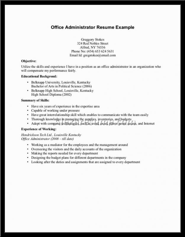 resume examples for student