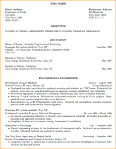 resume for a college student curriculum vitae format for job application cv