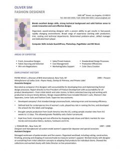 resume for a highschool student fashion resume objective sample
