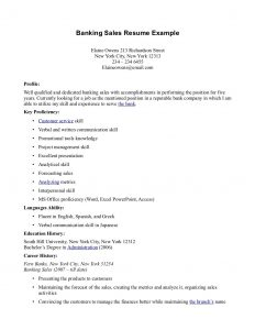 resume for bank teller resume customer service nursery sales