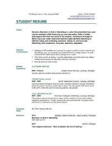 resume for college students college student resume examples