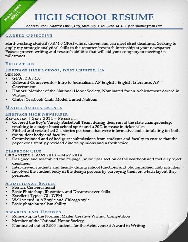 Lovely Resume For College Students  Resume Tips For Highschool Students