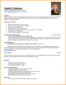resume for flight attendant flight attendant resume certificates and training for resume objective for flight attendant with education and skills for business aviation employment