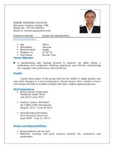resume for flight attendant sample cv new