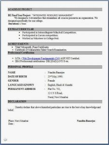 resume for freshers engineer fresher resume format