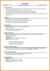 resume for freshers how to write cv for fresher sample resume freshers