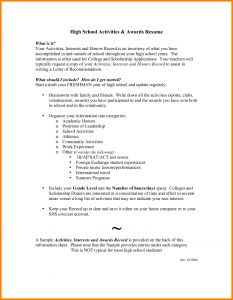 resume for high school senior high school senior academic resume examples