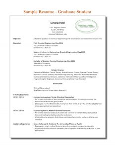resume for high school senior sample graduate student resume