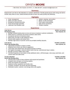 resume for waitress unforgettable lane server resume examples to stand out resume server skills resume server skills