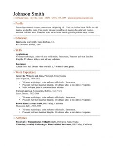 resume format download a resume templates