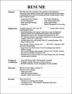 resume format for college students resume tips