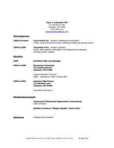 resume high school student sample resumes for high school students for a resume sample of your resume