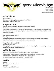 resume outline free resume outline