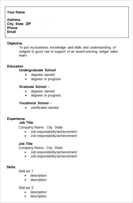 Resume Samples For College Student  Template Business