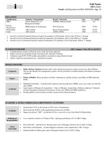 resume samples for freshers sample resume fresher