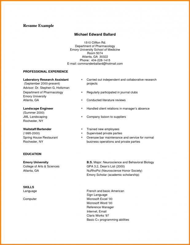 Resume Samples Pdf | Template Business