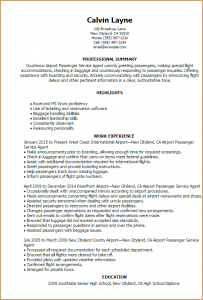 resume template college student airline customer service agent resume airport passenger service agent