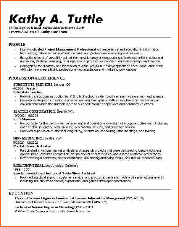 resume template for high school students