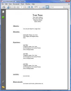 resume template pdf resumetemplate pdf