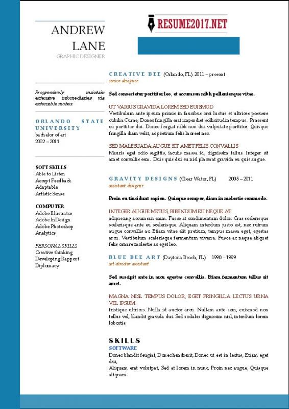 resume templates for highschool students