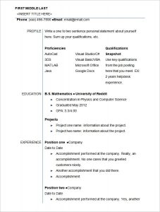 resume templates for students sample student resume template