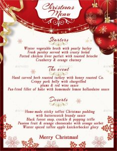 resume templates free download for microsoft word christmas menu template free sample example format download intended for christmas menu template word