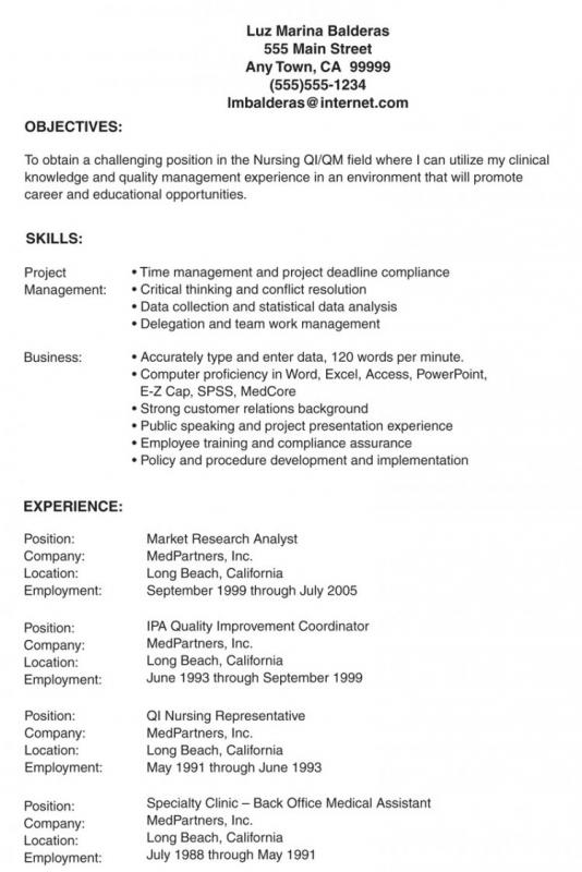 resume with photograph