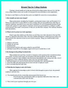 resumes for college students college resume template pdf
