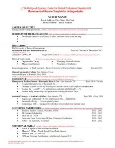 resumes for high school students with no experience center for student professional development recommended resume template college resume templates