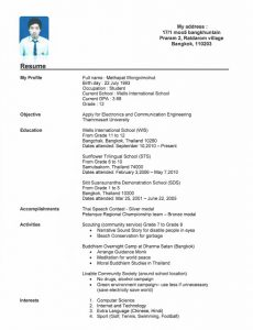 Resumes For High School Students With No Experience Template Business
